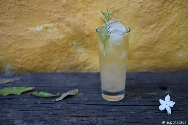 Punk pear : a beer cocktail with roasted pear