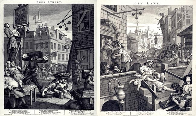 Beer Street versus Gin Lane