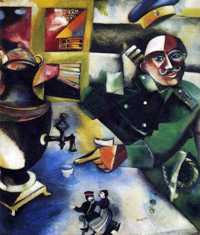 The Soldier Drinks : Marc Chagall